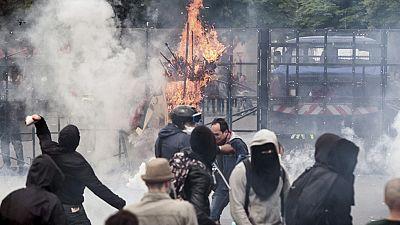 Disturbios en Francia durante la octava jornada de movilizaciones contra la reforma laboral