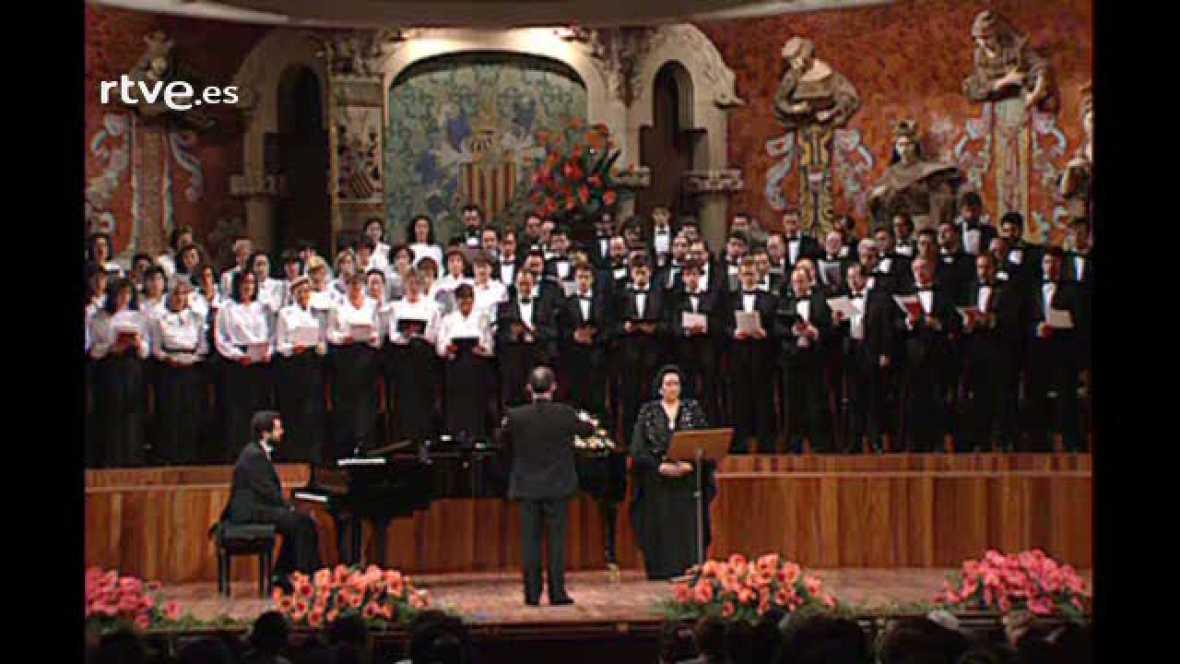"""Arxiu TVE Catalunya - Montserrat Caballé interpreta """"El Cant dels Ocells"""" al Palau de la Música"""