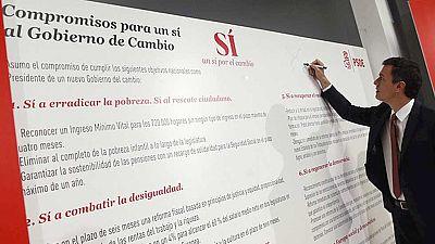 Pedro Sánchez se compromete a una moción de censura en dos años si es investido presidente