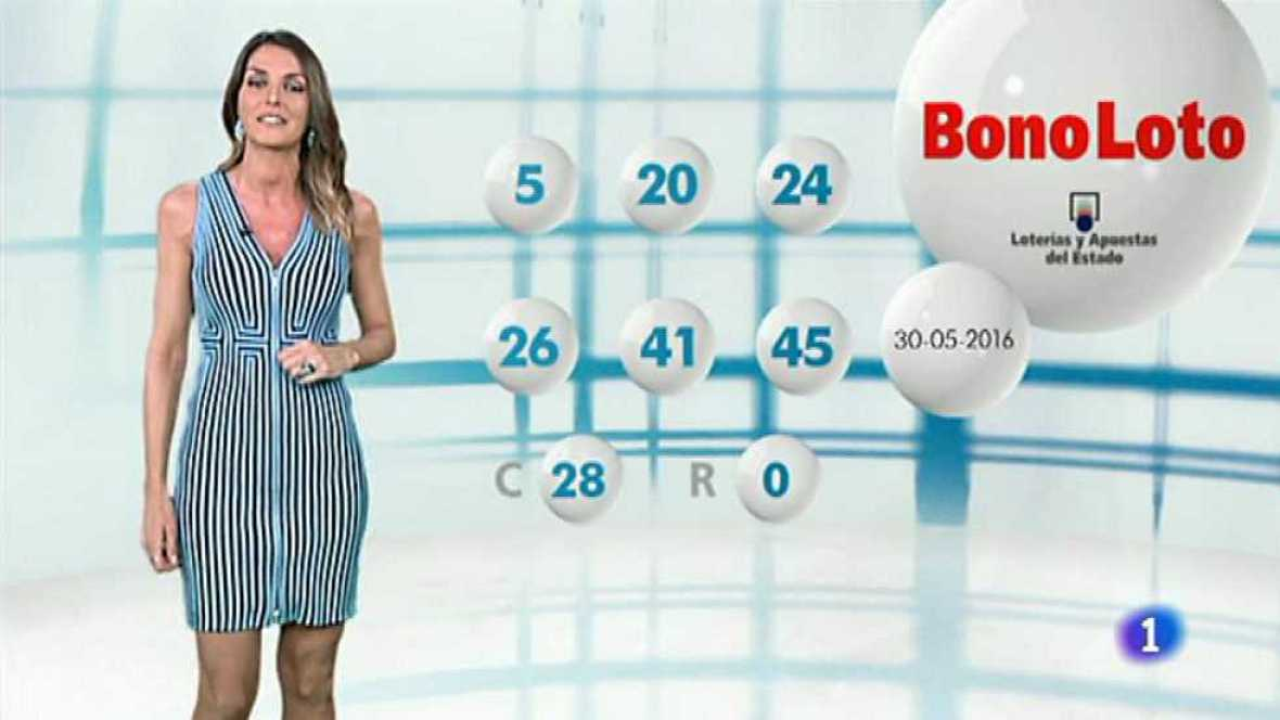 Bonoloto - 30/05/16 - ver ahora