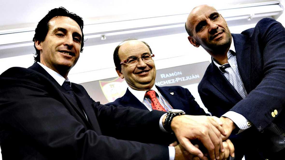 Ramón Rodríguez 'Monchi' continuará siendo el director general  deportivo del Sevilla FC hasta el mes de junio de 2020, según anunció  este martes la entidad nervionense, que ha retenido al exfutbolista  gaditano para que cumpla su contrato en lugar