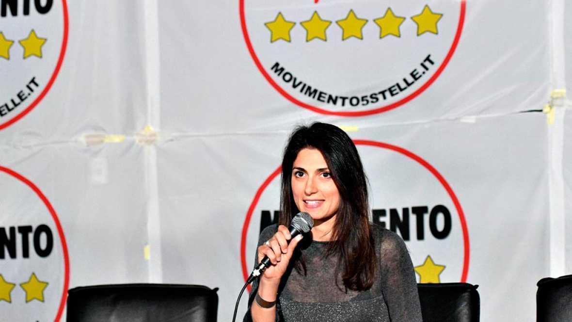 La candidata del movimiento Cinco Estrellas gana la primera vuelta de la elecciones municipales en Roma