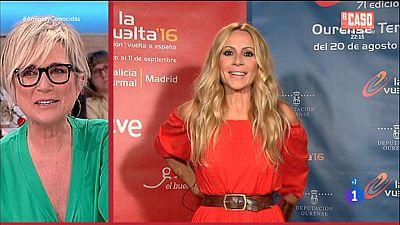 Marta S�nchez interpreta la canci�n de la 'Vuelta'