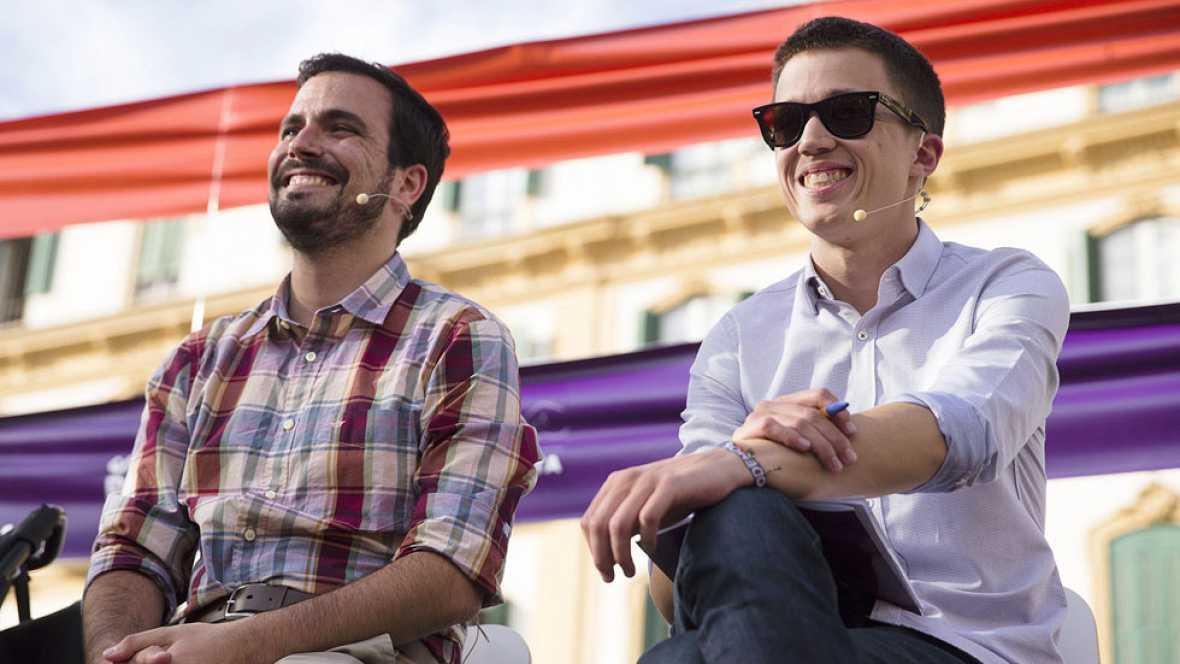 Garzón y Errejón hacen campaña juntos en Málaga para devolver las instituciones a la gente