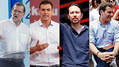 Los líderes de los principales partidos piden el voto en el primer fin de semana de campaña