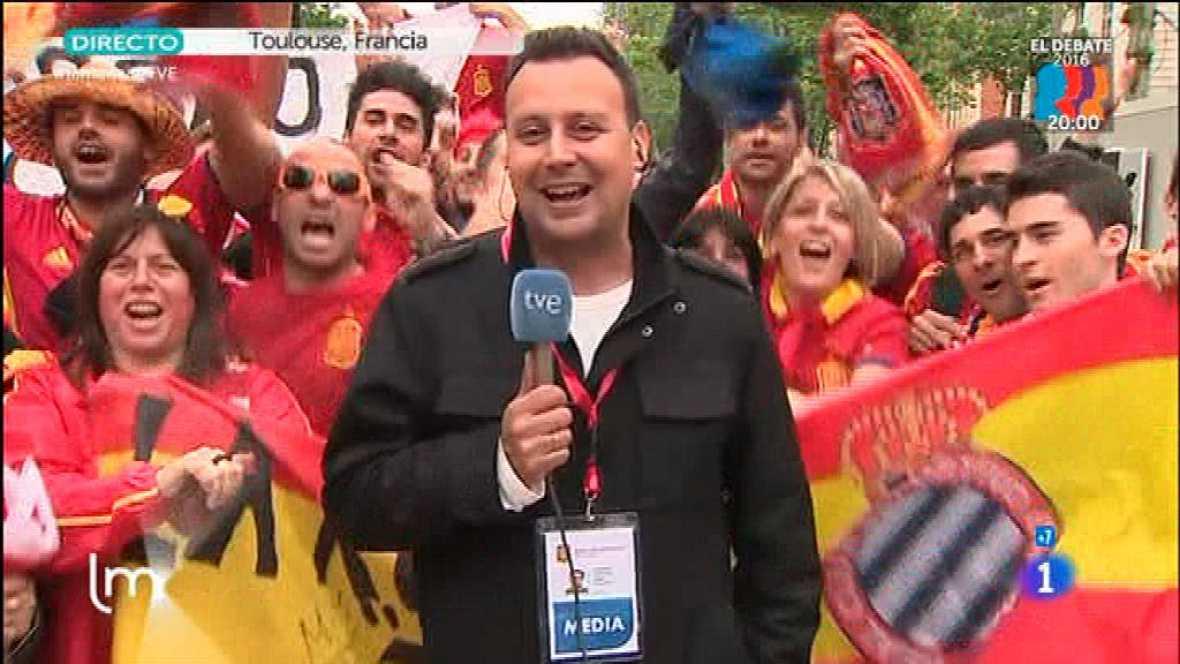 España debuta en la Eurocopa