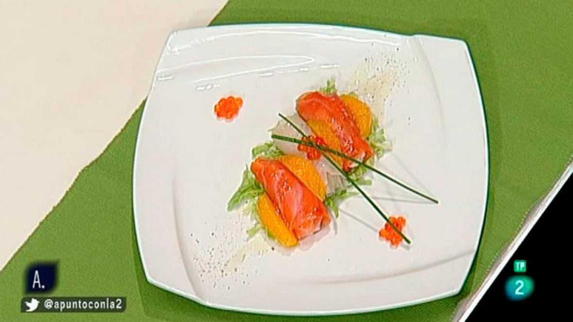 A punto con La 2 - Cocinando a punto - Ensalda de ahumados y cítricos
