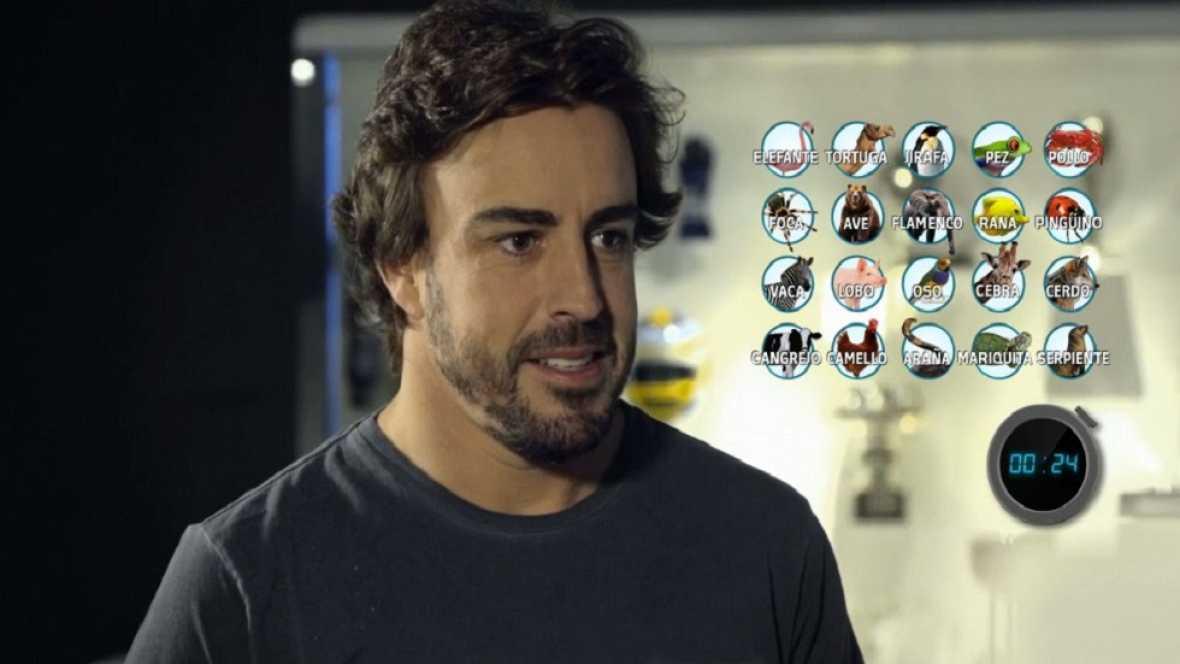 Desafía tu mente - Fernando Alonso en un juego con animales