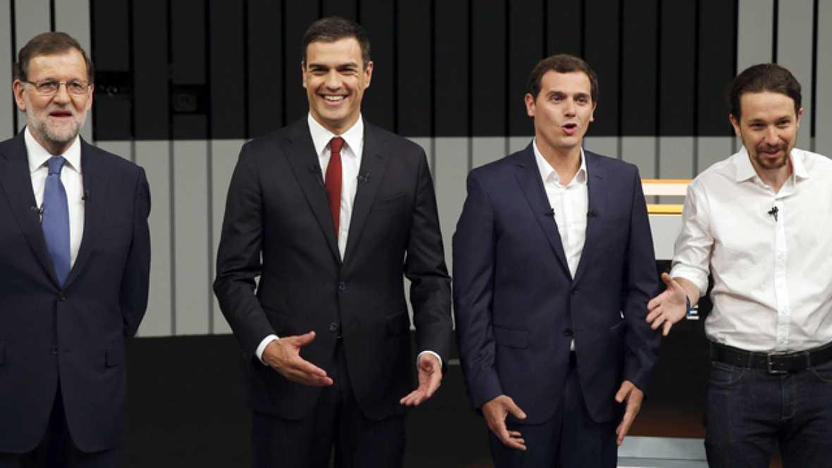 Reproches y críticas por parte de Sánchez, Rivera e Iglesias a Mariano Rajoy por la gestión de su gobierno