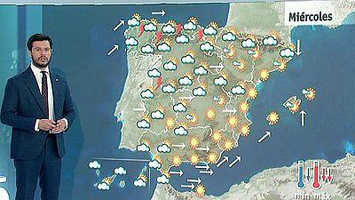 Lluvias en el norte peninsular y viento muy fuerte en Granada, Almería y Melilla