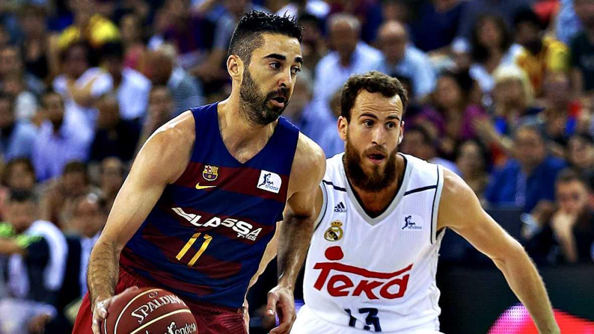 El FC Barcelona Lassa derrotó este miércoles por 100-99 al Real Madrid en el primer partido de la final de la Liga Endesa de baloncesto, que se juega al mejor de cinco.