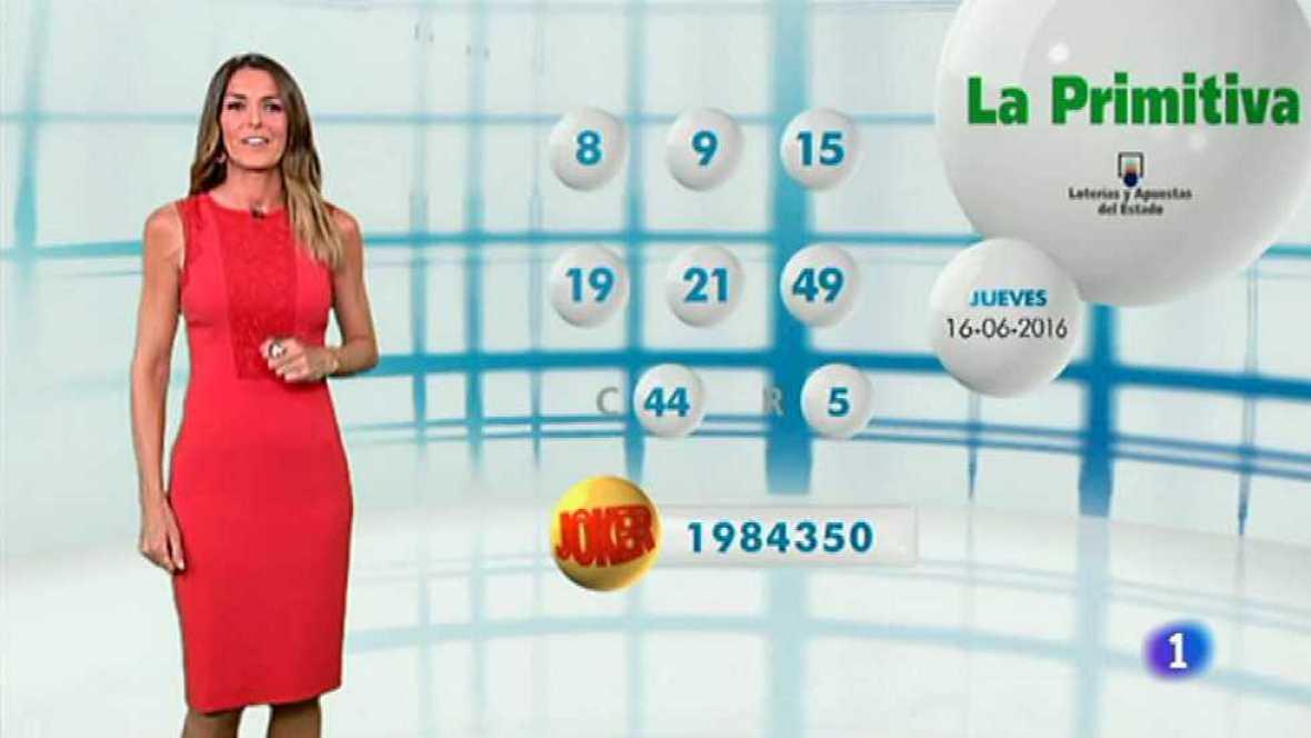 Lotería Nacional + La Primitiva + Bonoloto - 16/06/16 - ver ahora