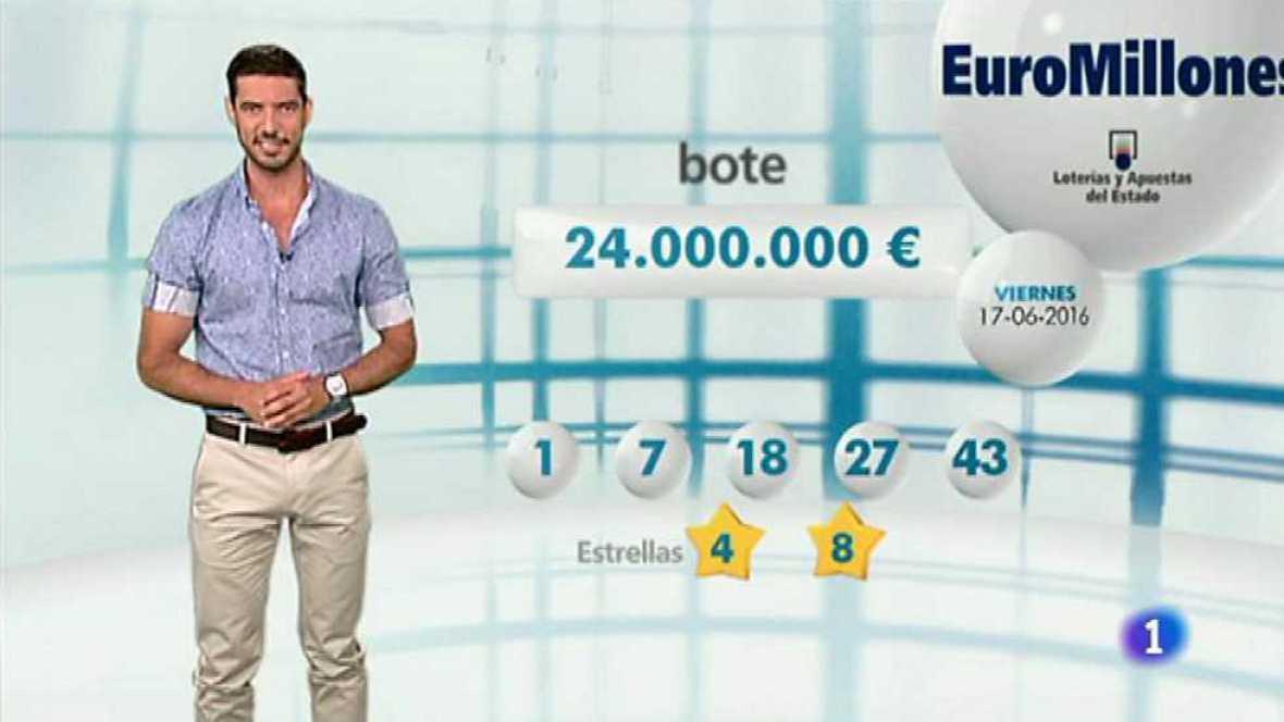 Bonoloto + EuroMillones - 17/06/16 - ver ahora