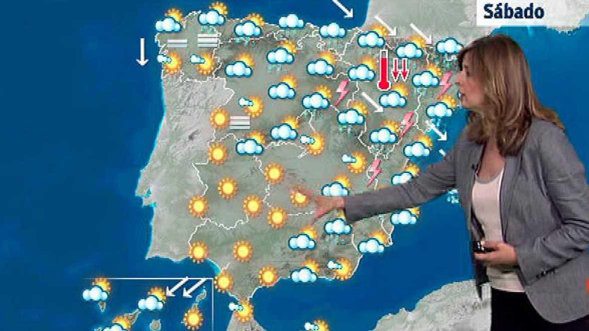 Lluvias en Cataluña y Baleares y temperaturas al alza en el oeste peninsular