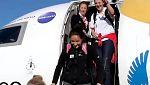 La selección femenina de baloncesto aterriza con su billete a Río