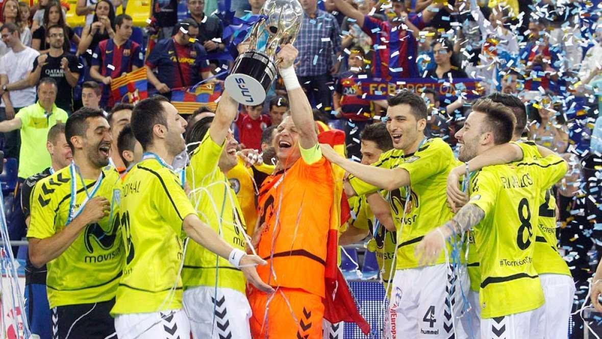El Inter Movistar se ha impuesto 1-3 al Barcelona en el Palau y ha conseguido su tercer título de liga consecutivo, el undécimo en su palmarés.