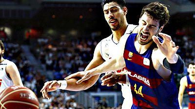 El Real Madrid gan� este lunes por 91-74 al Barcelona en el tercer partido y se adelanta 2-1 en la eliminatoria final de la Liga Endesa de baloncesto, que se juega al mejor de cinco partidos.
