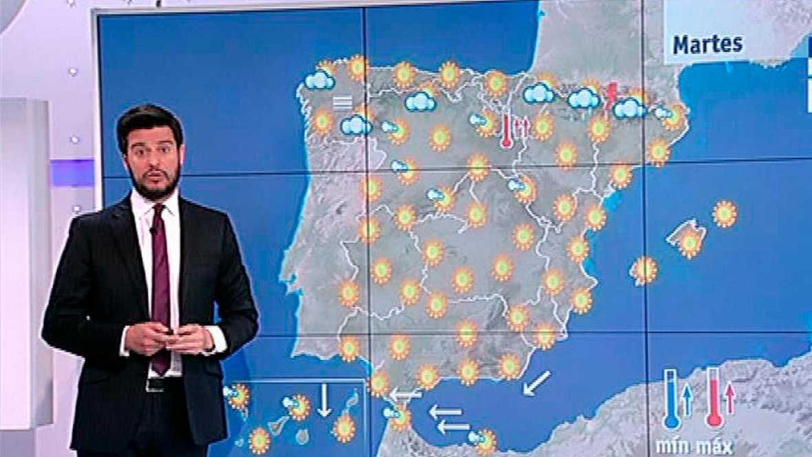 Temperaturas en ascenso y cielos despejados salvo en el norte