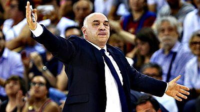 """El entrenador del Real Madrid de baloncesto, Pablo Laso, afirm� que sus jugadores """"se merecen un reconocimiento brutal"""" por este t�tulo de liga n�mero 33, conquistado en el cuarto partido de la final contra el Barcelona."""
