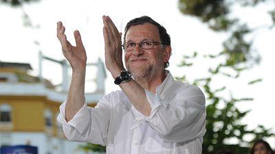 """Rajoy pide concentrar el voto en las siglas del PP para """"no jugar con los intereses de nadie"""""""