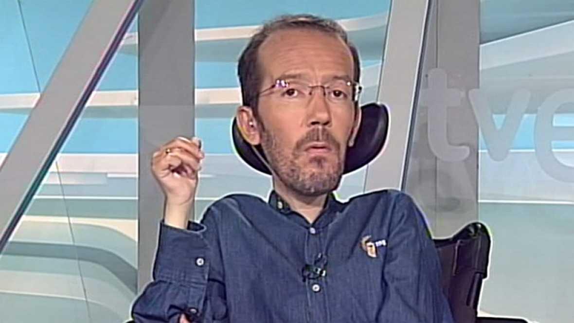 """Pablo Echenique: """"Confiamos en superar al PP tanto en votos como en escaños"""""""