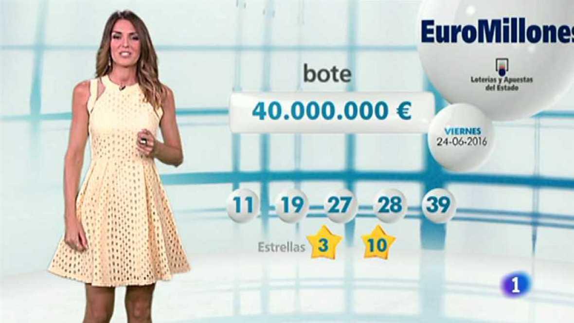 Bonoloto + EuroMillones - 24/06/16 - ver ahora