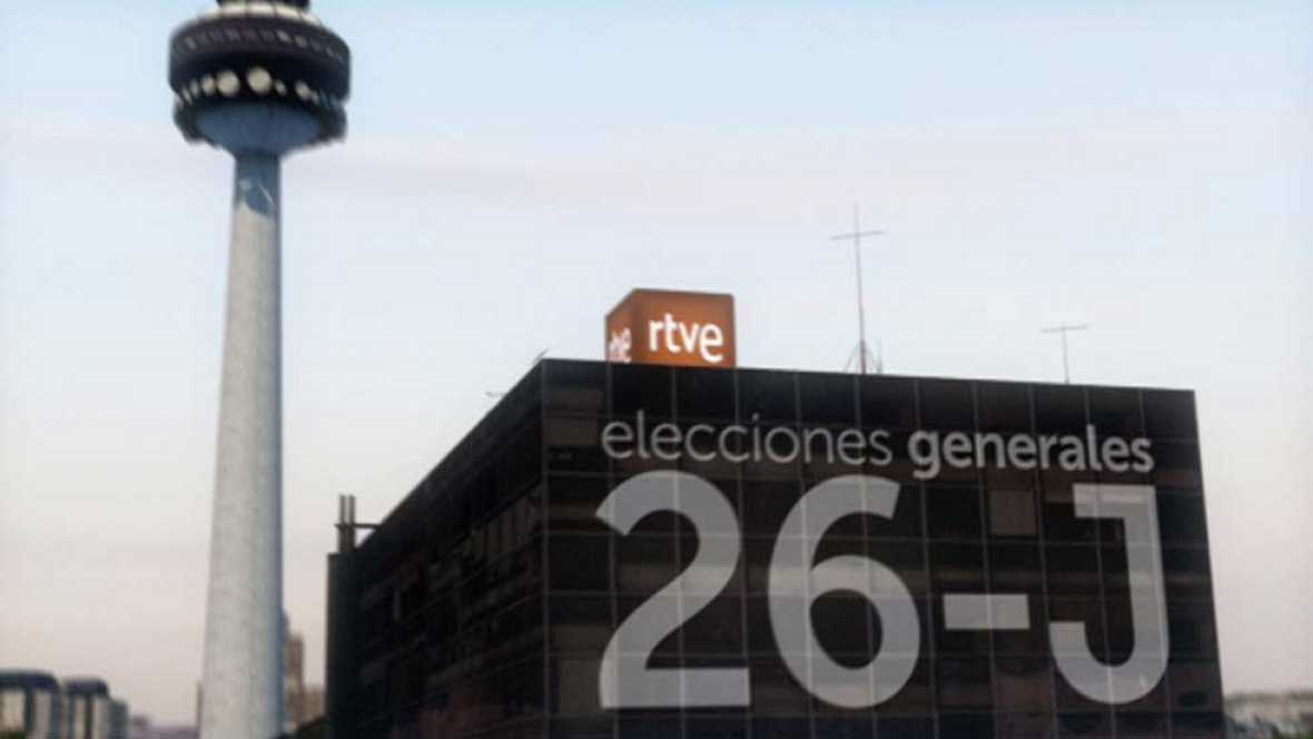 RTVE se vuelca con la jornada electoral del 26-J