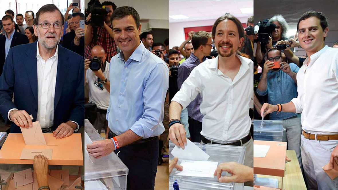 Los principales líderes políticos depositan su voto y llaman a la participación