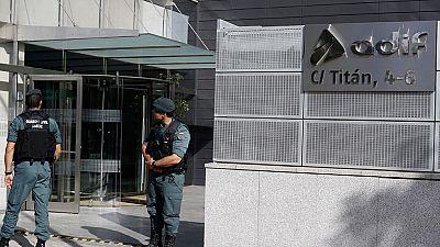 14 detenidos en las sedes de ADIF por presunta malversación de 80 millones de euros