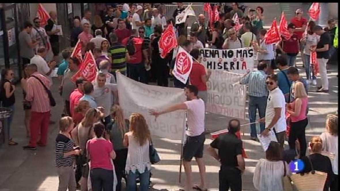 Manifestació dels treballadors de 'handling'