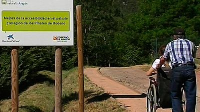 Nuevos senderos en Teruel accesibles a personas con discapacidad