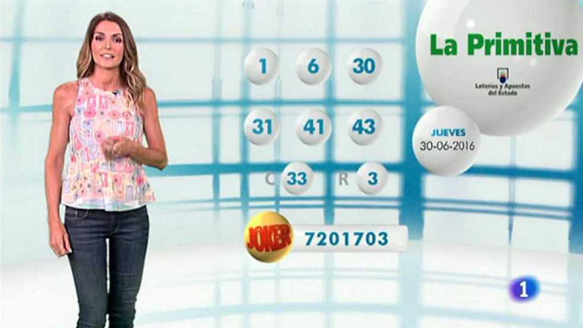 Lotería Nacional + La Primitiva + Bonoloto - 30/06/16 - ver ahora