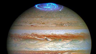 El telescopio Hubble capta una aurora boreal en Júpiter