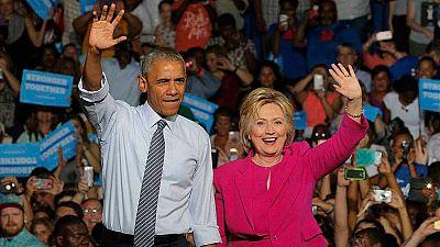 """Obama, en su primer mitin con Clinton: """"Estoy aqu� porque creo en ella"""""""