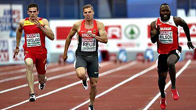 El madrileño -nacido en Australia- Bruno Hortelano se ha quedado a cuatro centésimas de la medalla en la final de 100 metros de los campeonatos de Europa al terminar cuarto con un tiempo de 10.12, su tercera mejor marca. La descalificación, por salid