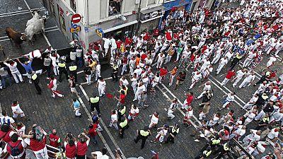 Un amplio dispositivo de seguridad de más de 3.000 agentes vigilan las calles de Pamplona