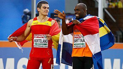 Hortelano logra un histórico oro en 200 metros y Sergio Fernández la plata en 400 vallas