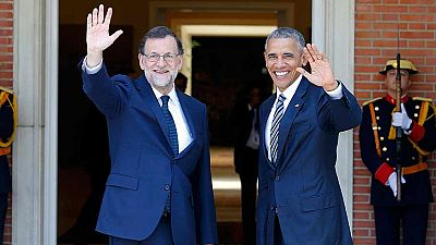 Rajoy recibe a Obama en Moncloa