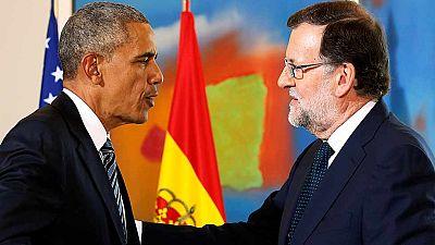 Comparecencia íntegra de Obama y Rajoy tras su reunión en Moncloa