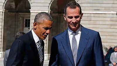 Obama es recibido con Honores de Jefe de Estado y bienvenida oficial en el Palacio Real