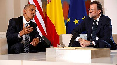 Obama ha mantenido un encuentro con Rajoy en La Moncloa