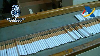 La Policía incauta 39 toneladas de tabaco picado de contrabando