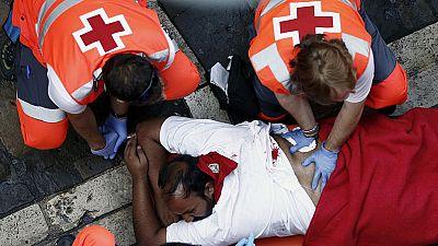 Así trabaja la Cruz Roja durante los sanfermines