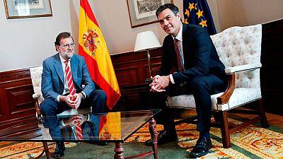 """Pedro Sánchez insiste en su 'no' a Rajoy """"a día de hoy"""""""