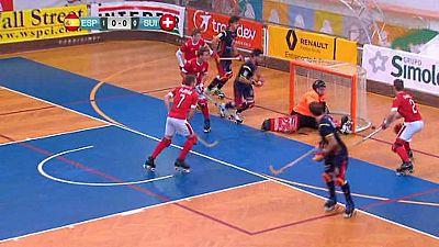 Hockey Patines - Campeonato de Europa: 3� y 4� Espa�a-Suiza - ver ahora