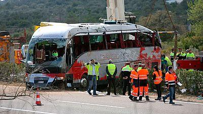 El conductor del autobús de erasmus se durmió al volante