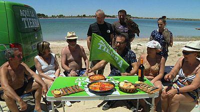 Villafranca de los Caballeros: playa y chiringuito