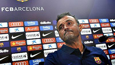 """El entrenador del FC Barcelona, Luis Enrique, Martínez, aseguró este jueves que Leo Messi no estará """"afectado"""" por sus problemas con la justicia, y no quiso entrar en detalle en ninguna tema relacionado con la campaña que efectuó el club a favor del"""