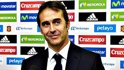 """Julen Lopetegui, nuevo entrenador de la selección española de fútbol, aseguró este jueves, durante su presentación oficial, que no """"desperdiciará"""" los buenos mimbres del pasado que dio éxitos a España y aseguró que más que una """"revolución"""" habrá una"""