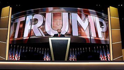 """Donald Trump se postura como """"el candidato de la ley y el orden"""""""